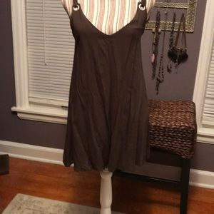 Top, sleeveless, olive green, rayon material